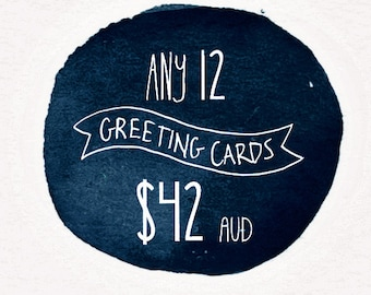 Greeting Card Set- 12 Pack by Honey Cup