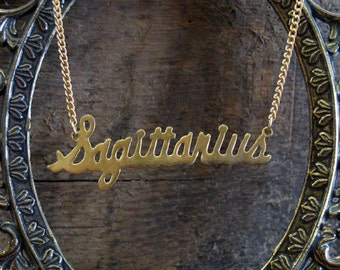 Sagittarius Astrological Sign Necklace