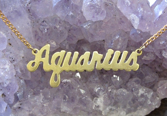 Aquarius Astrological Sign Necklace