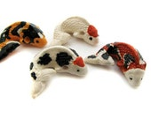 10 Large Koi Beads - Spotted mix - LG447