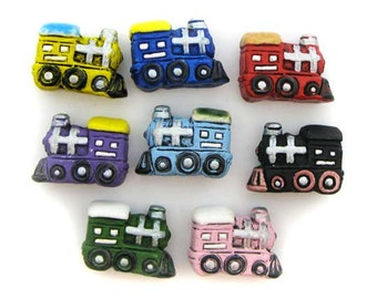 4 Large Mixed Train Beads