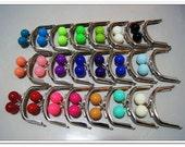 21pcs 3 inch color super big bobbles silver purse frames