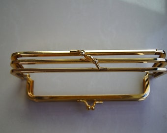 7 inch antique gold metal purse frame purse making supplies