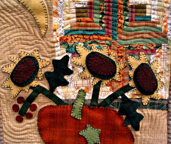 Autumn Wools Quilted Appliqued Wall Hanging