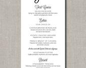 YUM Menu - Custom Printable Menus for Weddings, Events, Parties and More - by Flair Designery