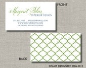 Calling Cards, Call Me Cards, Business Cards - Set of 100 - Moroccan Modern by Abigail Christine Design