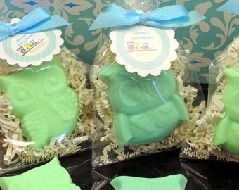 Set of 10 OWL Soap Favors Owl Soaps Birthday Baby Shower Bridal Shower