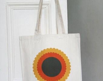 Scandi Flower Bag (orange)