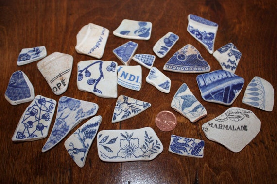 Sea pottery x 24 pieces surf worn