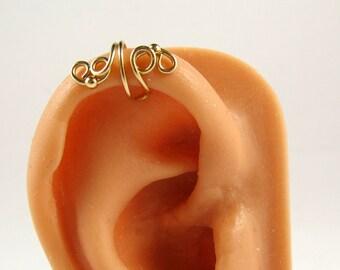 Gold Filled Earcuff/Helix Ear Cuff/Upper Cartilage Earring Vine Cuff Earring Wrap