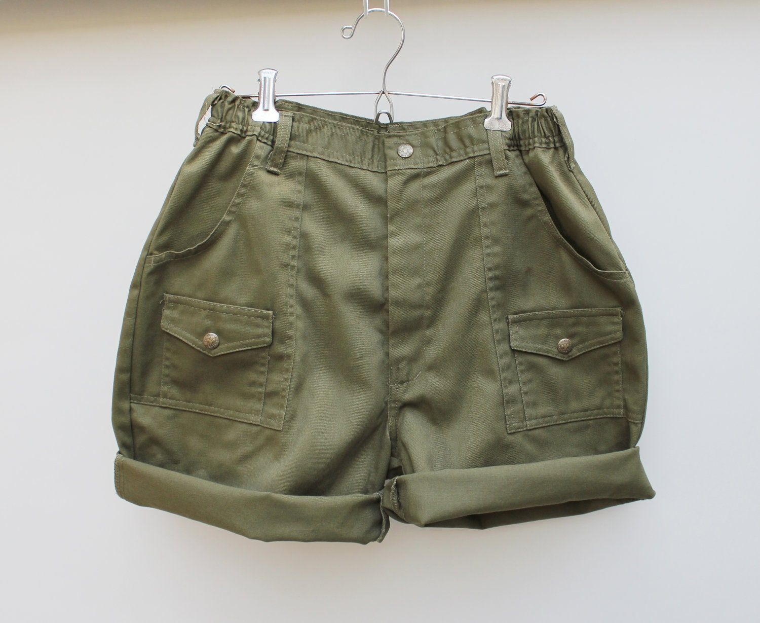 vintage 80s high waist boy scout shorts cargo shorts size 30