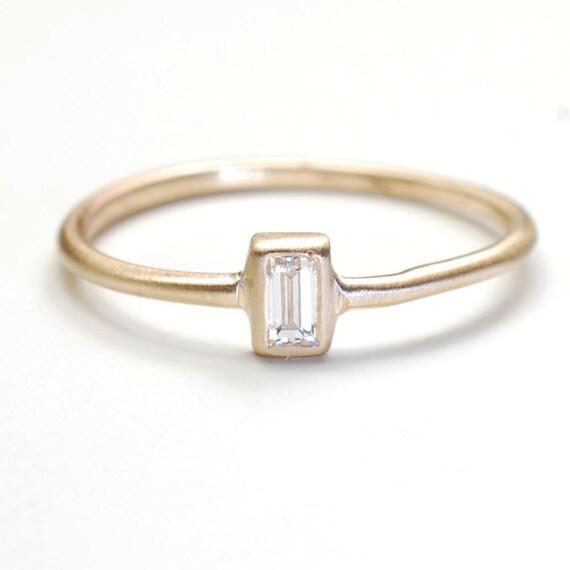 ring engagement ring baguette ring