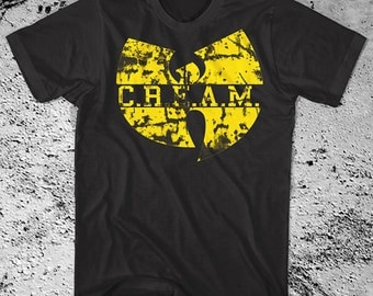 WU TANG Cream Shirt Cash Rules Everything Around Me - On SALE