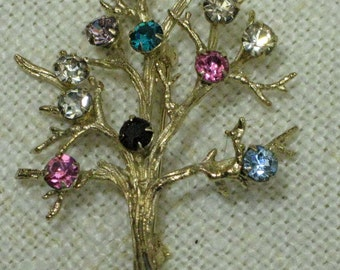 Sterling Tree of Life Brooch