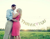 THANK YOU Banner- wedding banner- engagement banner - wedding thank you cards