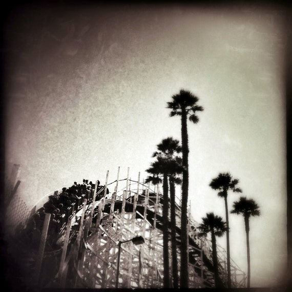 Roller Coaster Photo 5x5, Amusement Park Fine Small Art print Carnival Lover's Home Decor collect something different