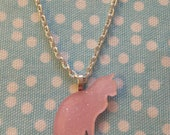Glitter Cat Silhouette Necklace