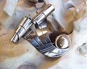 Vintage Spratling Sterling Silver Brooch/Pin Modernist Scrolls Copper