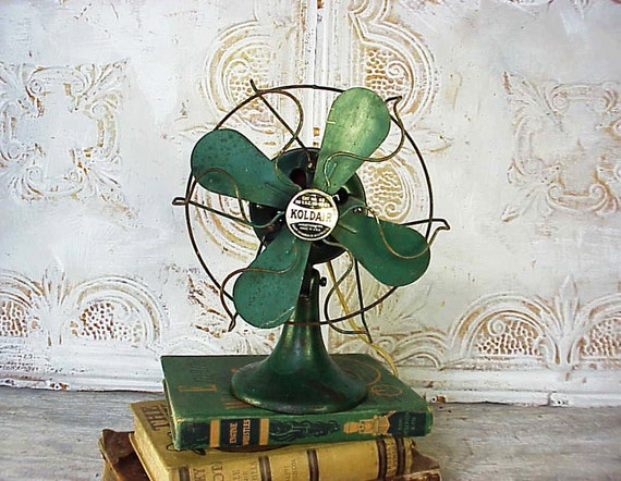 Vintage Kold Air Green Electric Fan