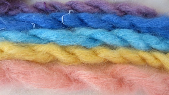 Assorted Mohair Boucle Mini skeins Yarn No.122