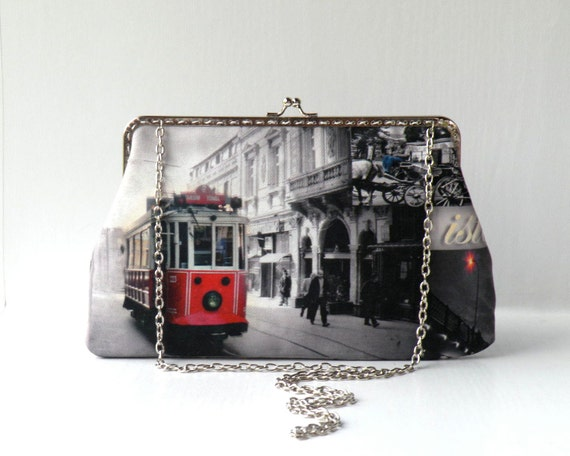 Istanbul, Bosphorus , train framed bag,shoulder bag
