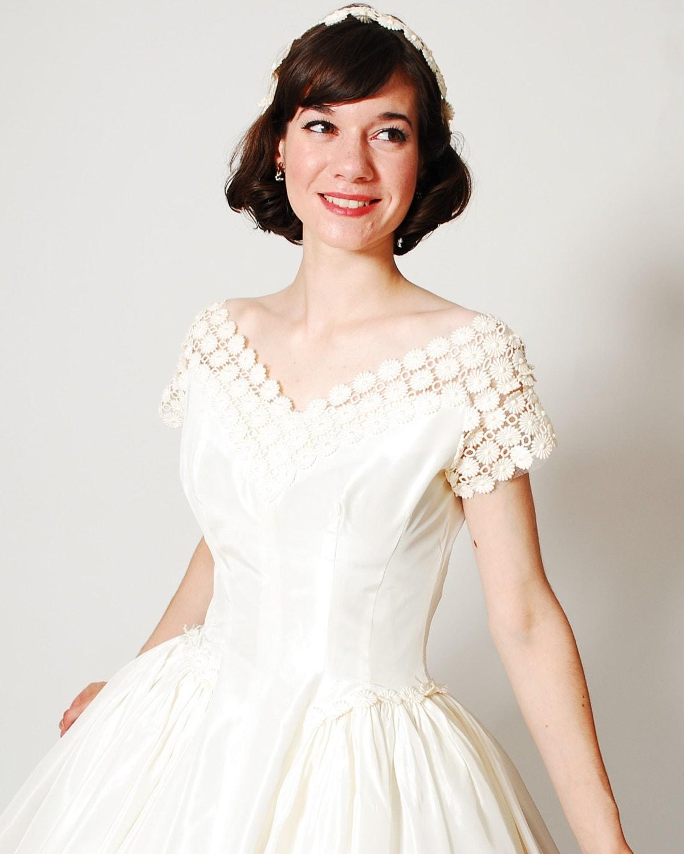 Vintage 1950s Wedding Dress 50s Wedding Dress The Miss