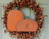Fall Wreath - Wreath for Autumn - Fall Door Wreath - Halloween Fall Autumn Wreath