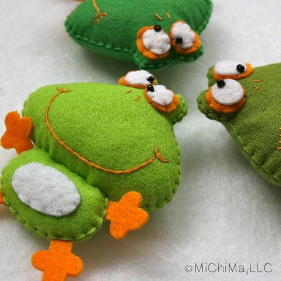 Private Listing for Alexandra - Frederique the Frog - Stuffed Felt Animal