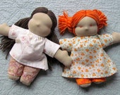 Instant PDF File For Small Waldorf doll tutorial and pattern package for doll ,hair, dress and pants