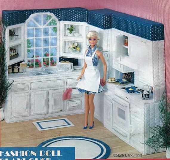 Vintage Fashion Barbie Mattel Doll Handmade KITCHEN FURNITURE