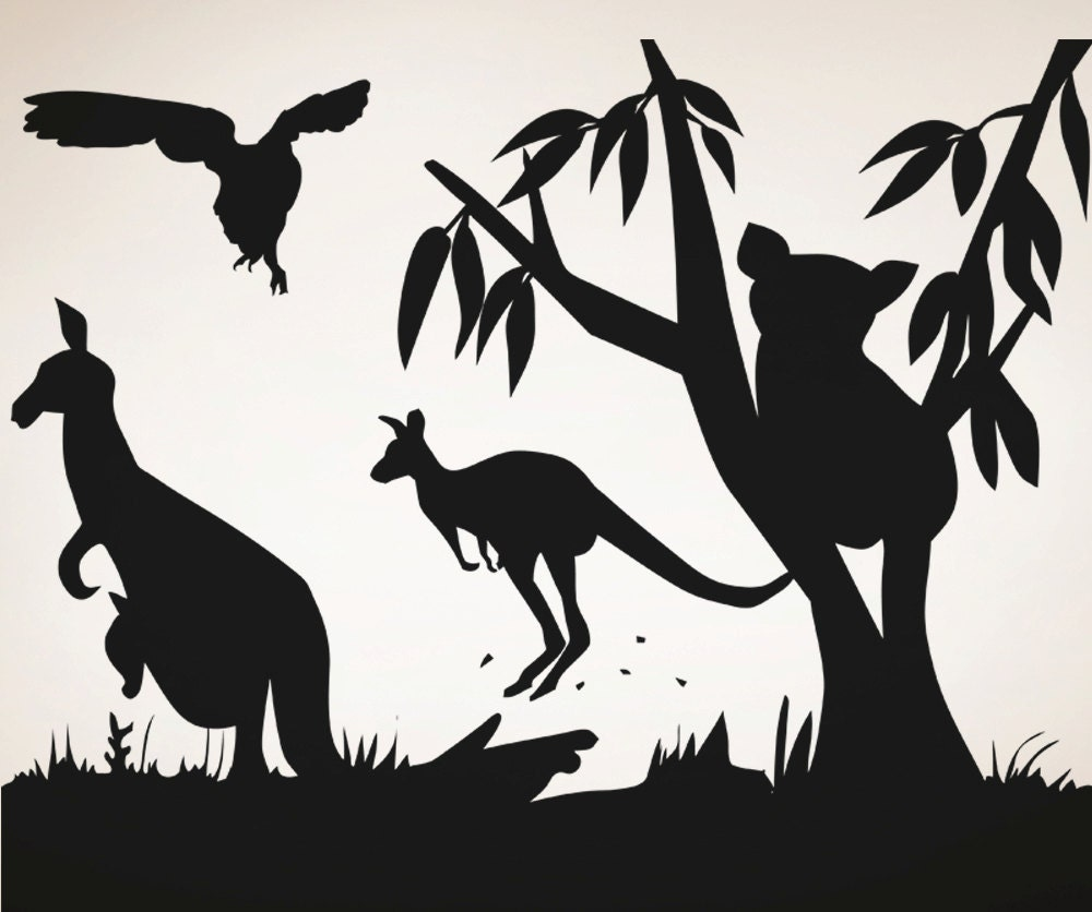 Vinyl Wall Decal Sticker Australian Animals OSAAs - Vinyl wall decals australia