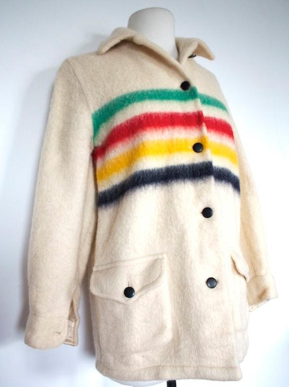 Vintage 1970s Hudson Bay Three Point Blanket Coat