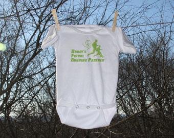 Daddy's Future Running Buddy Infant Bodysuit