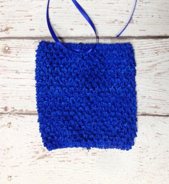 "8"" Crochet Tutu Tube Top - Royal Blue"
