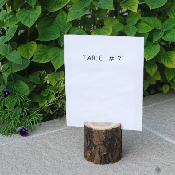 6 Acacia Wood Place Holders for Wedding Decor, Meetings, Events, Photo Props, Formal Dinners...