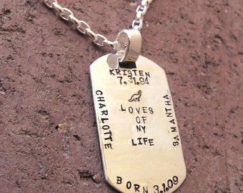 Custom Thick Sterling Men's Dog Tag Necklace