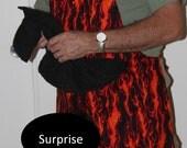 FIRE FLAMES BBQ Apron w/Penis fireman- Mature Content