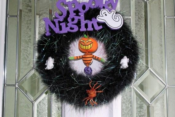 CLEARANCE SPECIAL Halloween Wreath Spooky Night