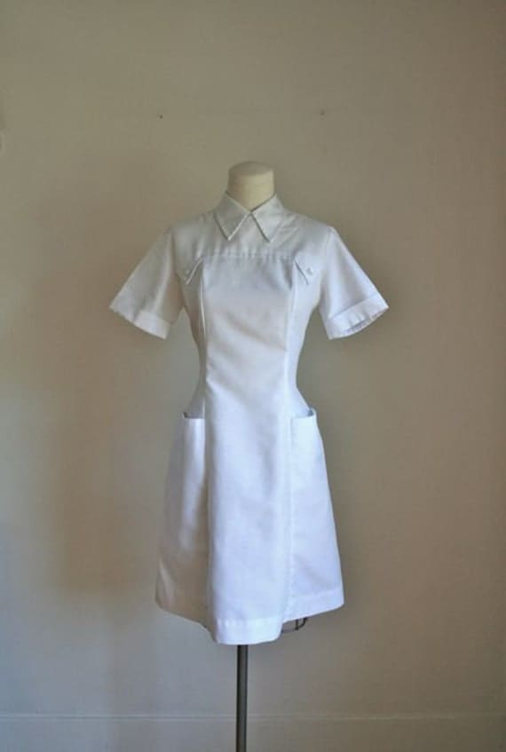 vintage 60s nurse uniform nurse jane nurse dress s by mstips