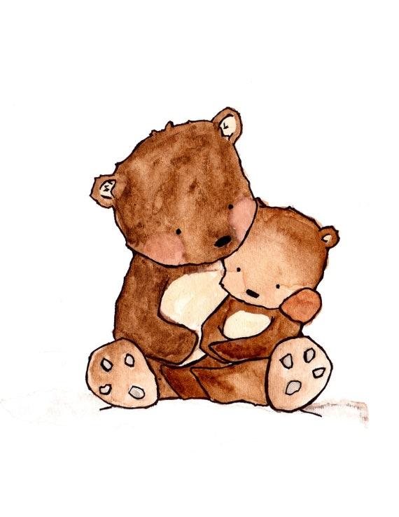 Us  -- archival print, Baby nursery print, childrens art print, kids room decor, kids wall art, child decor, baby art