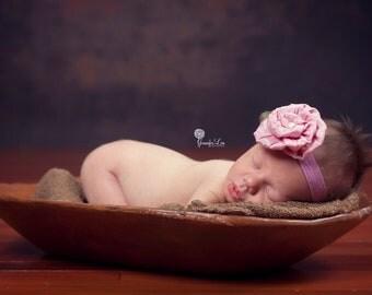 Rose baby headband, newborn headband, baby