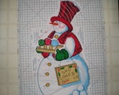 Christmas Holiday Door or Wall Hanging Christmas Panel - Attach your own Hanger - Snowman, Santa, Penguin, Tree