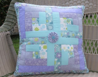 Purple Rain Quilted Pillow Cover