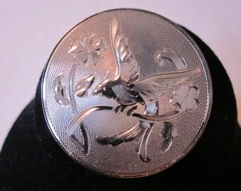 Vintage Sterling Silver LAMODE Brooch - Bird & Flower Design