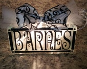 Personalized lighted glass block decor with any name, FAMILY, LOVE etc