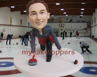 Christmas bobble heads, christmas gift idea, christmas ideal, group gift, company gift, custom figurines, custom bobbleheads, Disc on ice