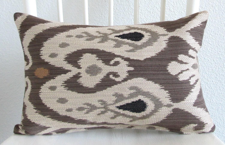 Decorative Pillow Cover Lumbar Pillow Ikat Pillow 12x18