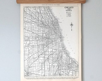 Chicago 1930s  Antique City Map