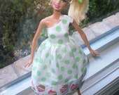 barbie dress cupcake polka dot ON SALE