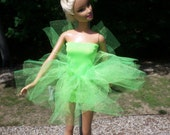 barbie doll tutu neon lime Tinkerbell